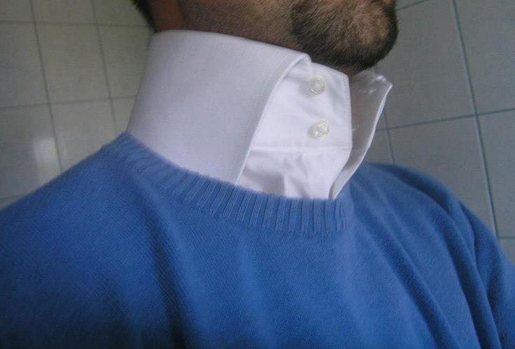 Mens High Collar Dress Shirt