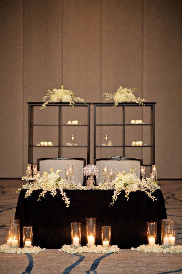 Romantic sweetheart table | Photo by Kristen Weaver