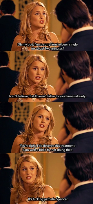 Made In Chelsea. Looking back, I see why Spencer liked Caggie so much, she really knew how to put him in his place!