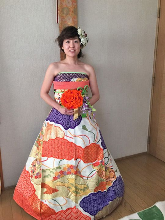 Brides in Japan are Turning Their Long-Sleeve Kimonos Into Stunning Wedding Dresses