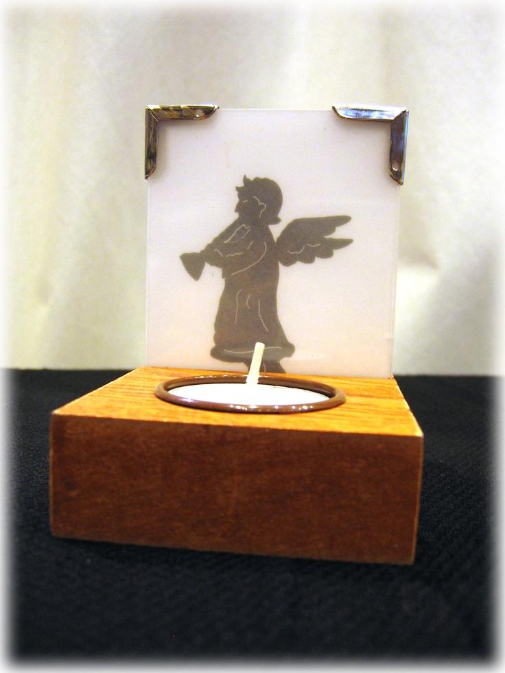 ESPECIAL NAVIDAD: velita con ángel