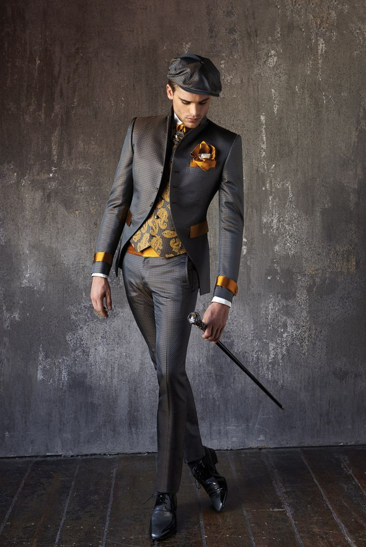 #CleofeFinati by Archetipo 2015 Men's Collection - Suit Mod. 15.1218-14 b28 - fabric 171 5418/13