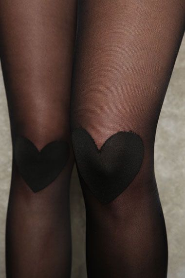 Sneaky Fox Heart Print Tights