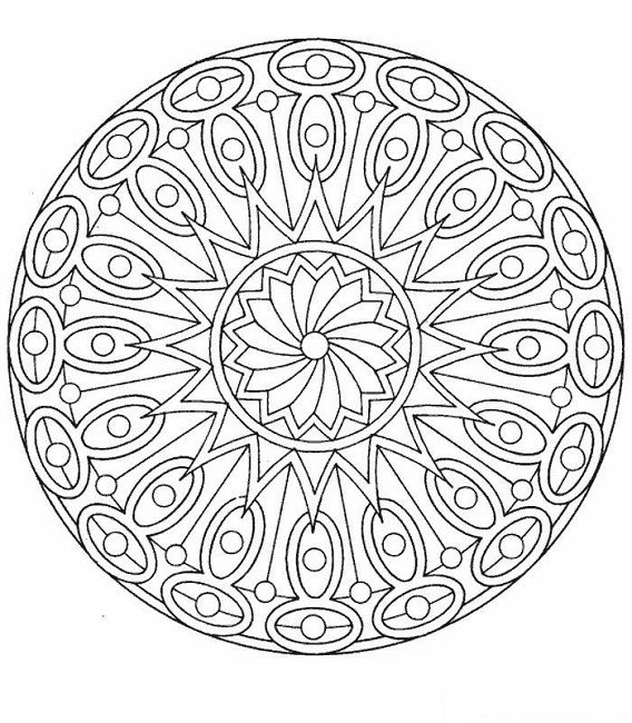 mandala coloring pages print - Art Pages To Color