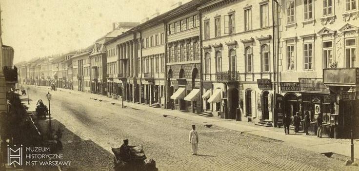 Ul. Nowy Świat, po 1873 r., fot. Konrad Brandel.