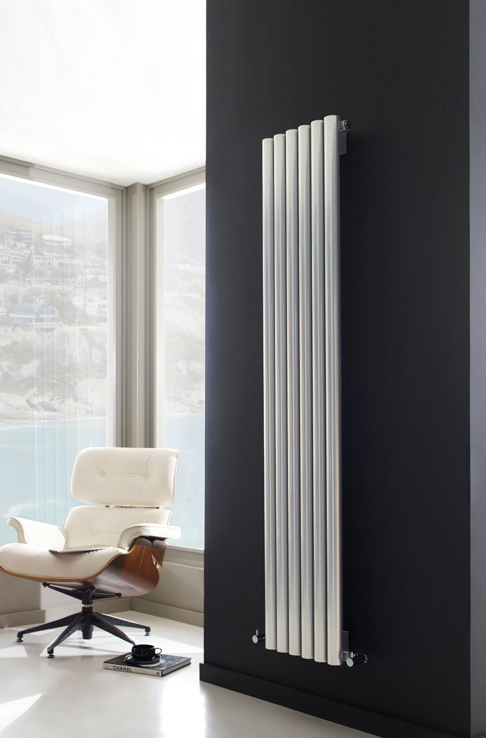 The Savy radiator makes for a smart addition to any room. The round tubular design gives great heat output, in a stylish high gloss silver finish.
