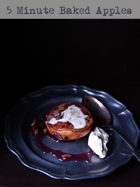 """5 Minute """"Baked Apple"""" from Not Quite Nigella"""