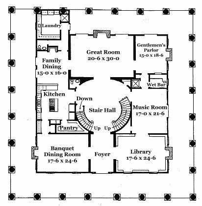 51 best floorplans images on pinterest floor plans for Neoclassical house plans