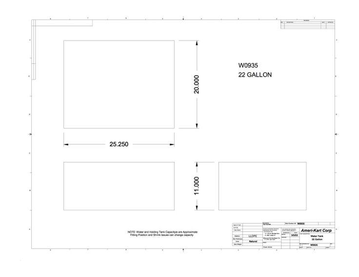 "25.25"" x 20"" x 11""- Recreational Vehicles (RV) Parts and Tanks | Ameri-Kart"