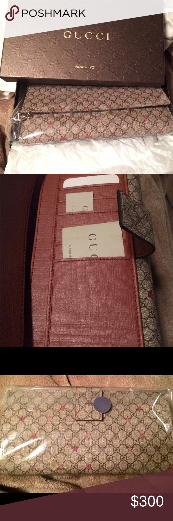 Gucci star wallet GG Supreme Canvas Continental Star print wallet Gucci Accessories Watches