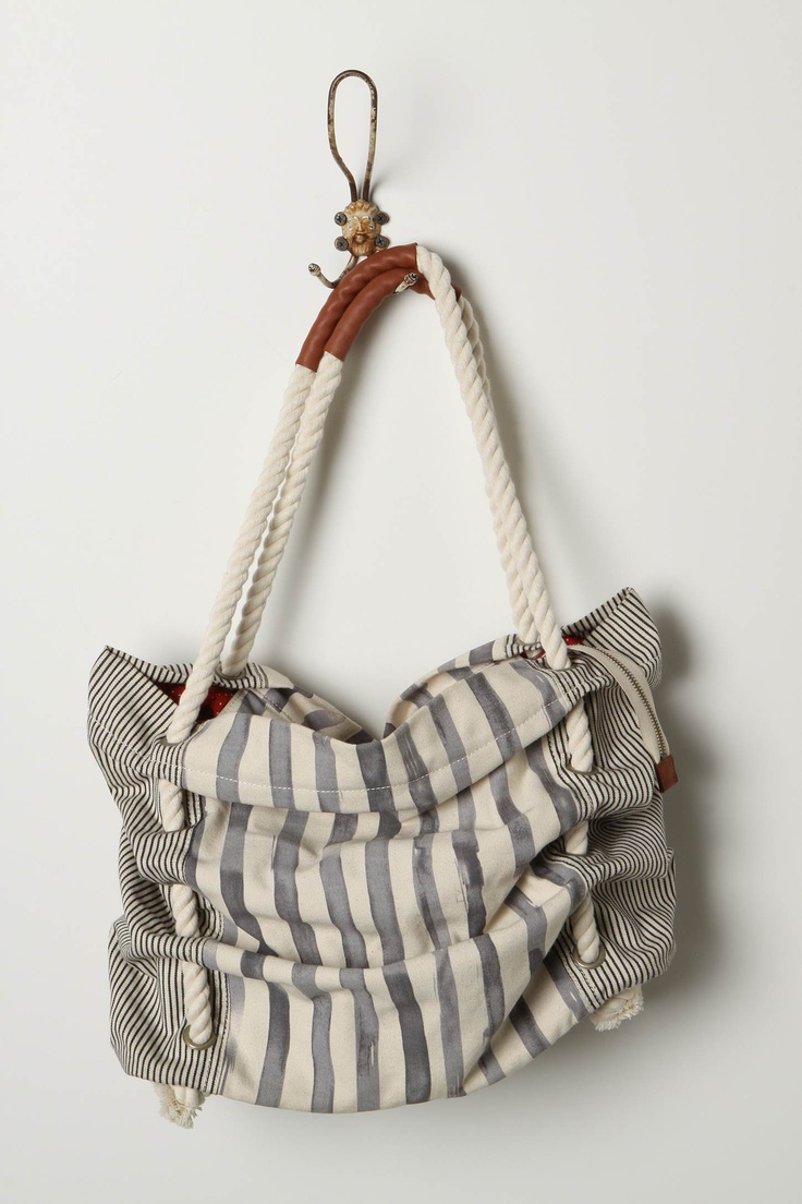 nautical summer tote: Roped In Totes, Diy Beaches Bags, Diapers Bags, Style, Beach Bags, Summer Bags, Inspiration Bags, Purses, Anthro Inspiration