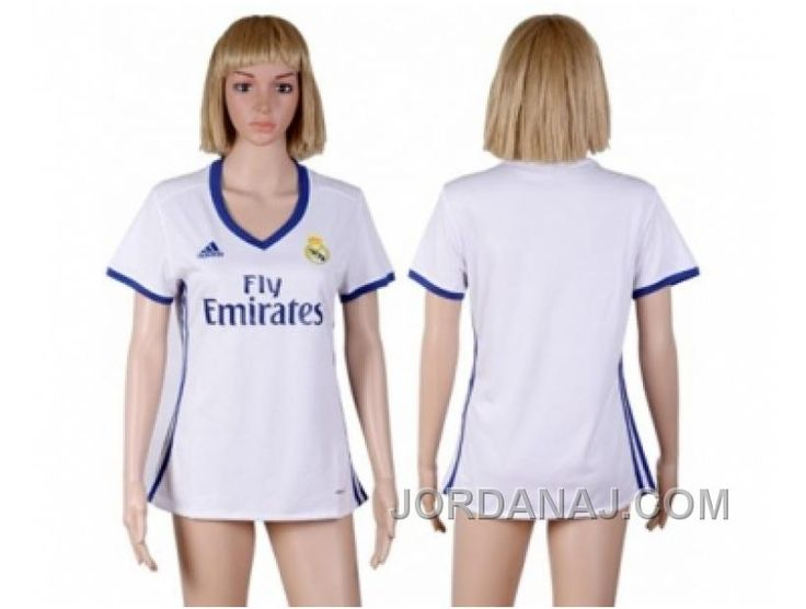 f51d4c5e9 Women s Real Madrid Blank Home Soccer Club Jersey