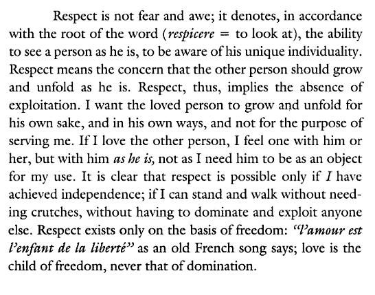Erich Fromm: freedom and alienation, and loving and being in education