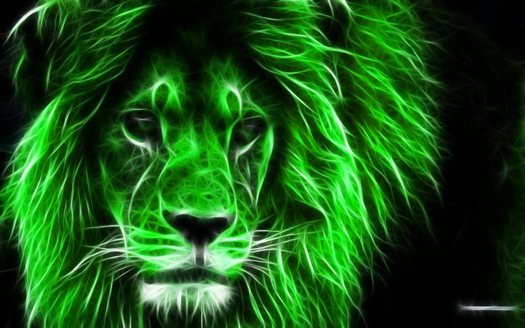 Green 3D Lion King HD Wallpaper