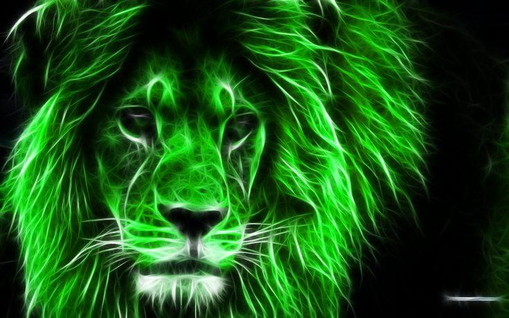 Green 3D Lion King HD Wallpaper
