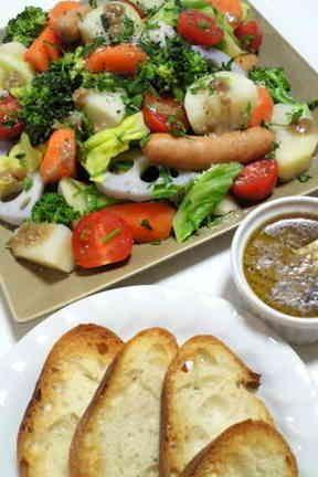 バーニャカウダ風*たっぷり温野菜サラダ♪の画像