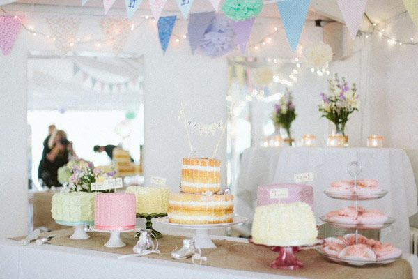 Soft-iced cake table display. created by http://www.perfectionistconfectionist.com captured by Lisa O'Dwyer