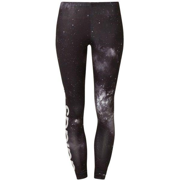 adidas Originals UNIVERSE Leggings (46 AUD) ❤ liked on Polyvore featuring pants, leggings, bottoms, jeans, 0 roupas, black, women's trousers, adidas originals, adidas originals pants and adidas originals leggings