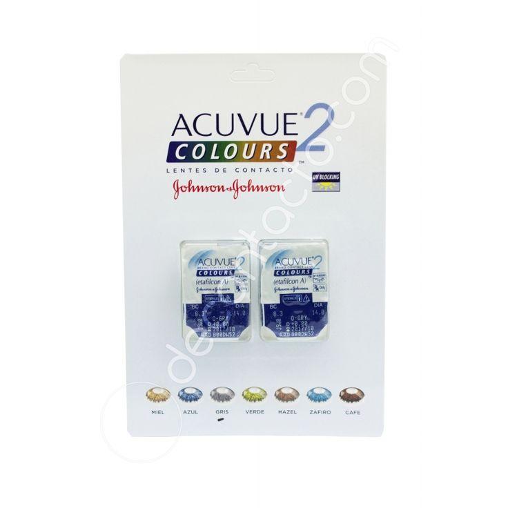 Los lentes de contacto Acuvue 2 Colours son blandos cosméticos de uso diario, de reemplazo mensual.Cambia de imagen y personalidad.