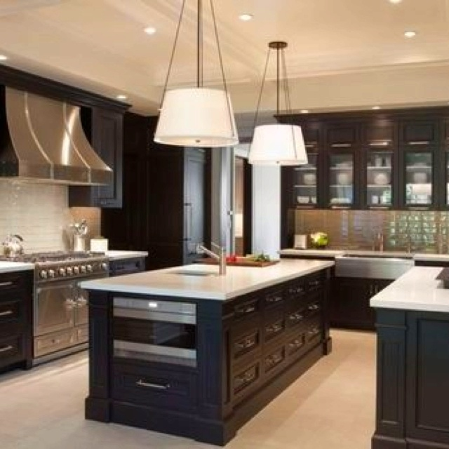 1000 images about double kitchen islands on pinterest for Dual island kitchen designs