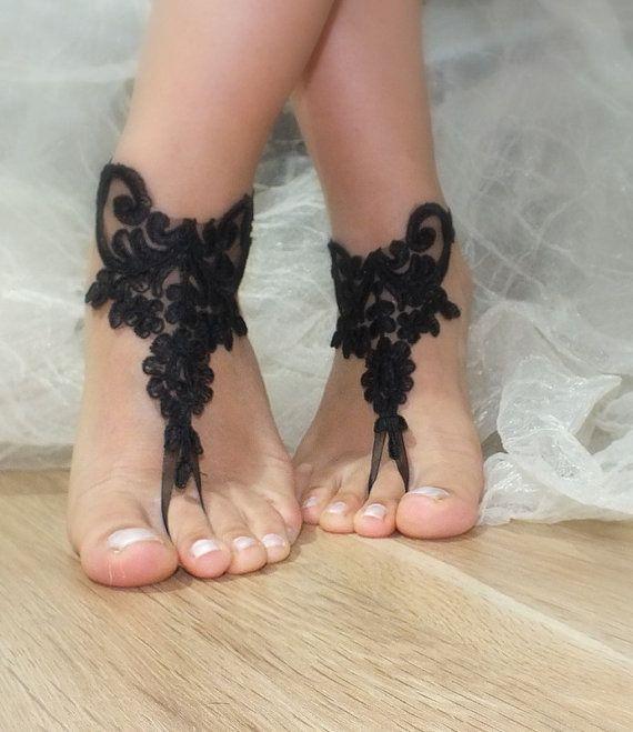 Mariée et demoiselle d'honneur pieds nus, sandales cadre argent, cheville nuptiale, la cheville d'ivoire mariage, libèrent le bateau, : Chaussures par binnur-yildirim