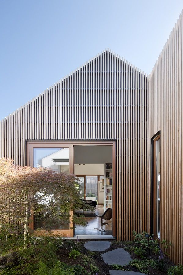 Exterior Timber Battens by Steffen Welsch Architects. Project: House in House.