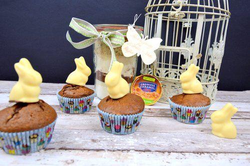 Schoko Erdnuss Muffins als Oster-Backmischung im Glas - Powered by @ultimaterecipe