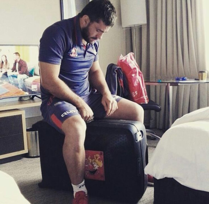 Robbie Coetzee getting ready to leave for the last leg of the tour.  #LeyaTheLion #Liontaiment #Lions4Life #SuperRugby #EmiratesLions #BeThere #MyLionsMoment #LionsPride #LionsOnTour #Australia #Melbourne #Perth #Canberra #Rugby