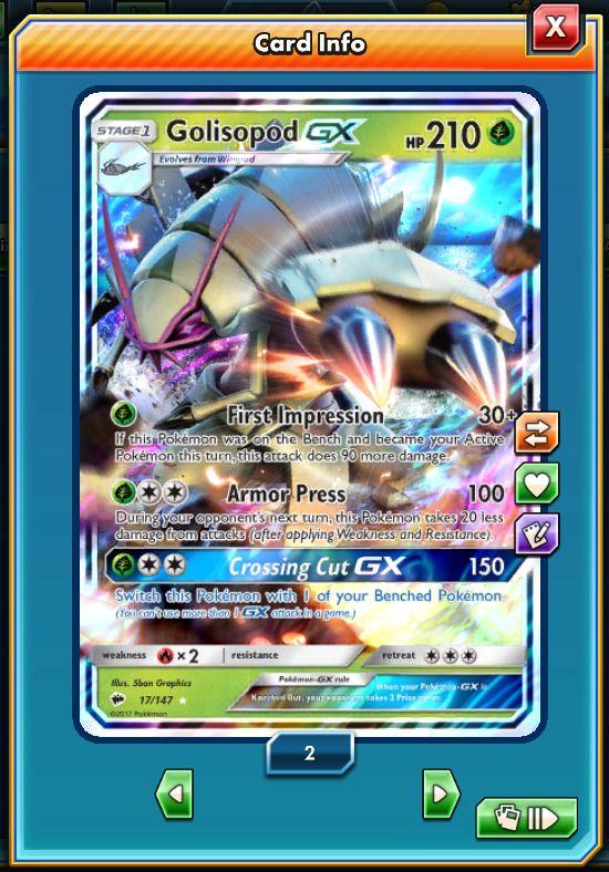 RA Golisopod-GX 17/147 - Pokemon Trading Card Game PTCGO Digital card online #ptcgo #pokémon #pokémontcgonline #shop #ptcgonline #pokémontcgo #trading #card #cards #game #online #pokémontcg