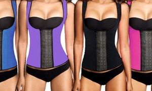 Waist trainer vest can be worn during your day to cinch your midsection or added to your workout to increase perspiration and burn calories