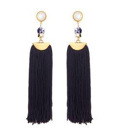 ShopBazaar Lizzie Fortunato Tahitian Tassel Earrings MAIN