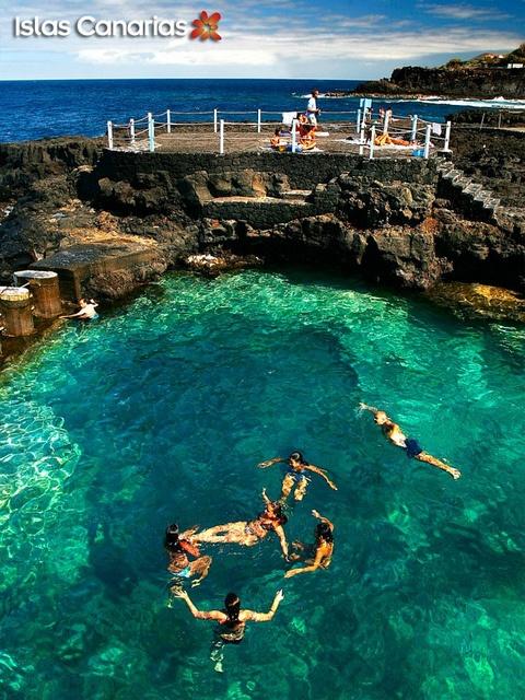 Charco Azul en La Palma (Canary Island), via Flickr. This is my lovely and beautiful island. LA ISLA BONITA