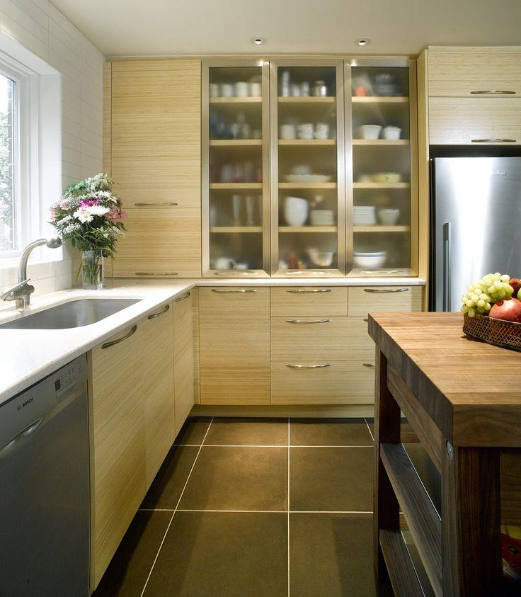 La combinaison d 39 armoires de cuisine au fini textur et for Armoire cuisine action
