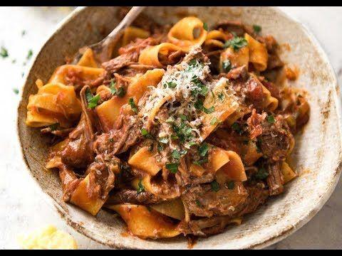 Slow Cooked Shredded Beef Ragu Pasta | RecipeTin Eats