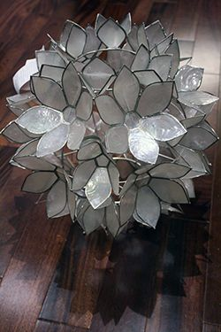 How to Make a DIY Hanging Capiz Shell Pendant Chandelier | * View Along the Way *