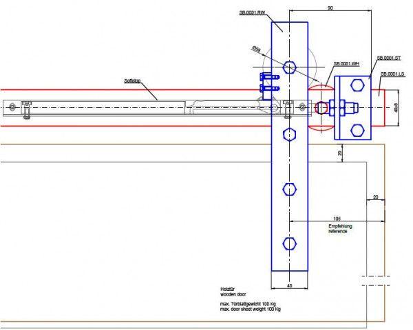 Schiebeturbeschlag Stahl Einzelkomponenten Doors Floor Plans