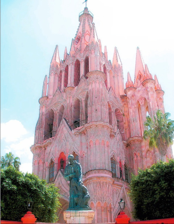 Pink Church, San Miguel, Mexico ...