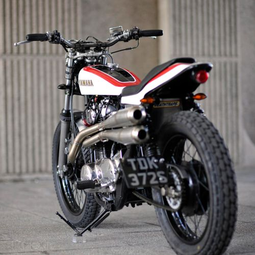 Yamaha flat tracker custom (Thanks, 'Go Away Garage')