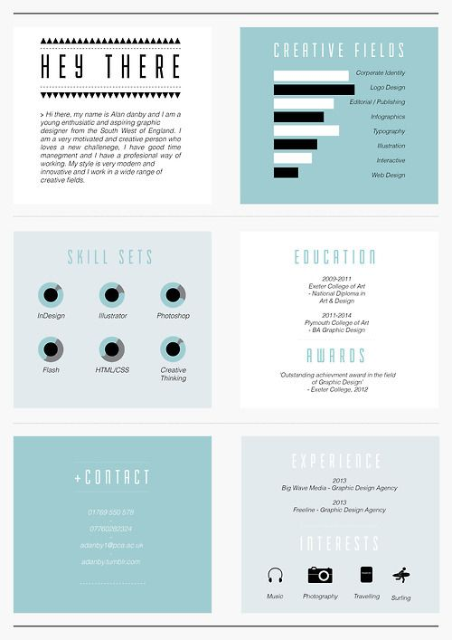Creative C.V by Alan Danby, via Behance