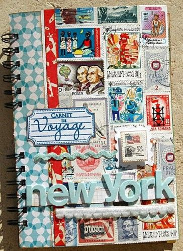 carnet de voyage, new york, scrapbooking