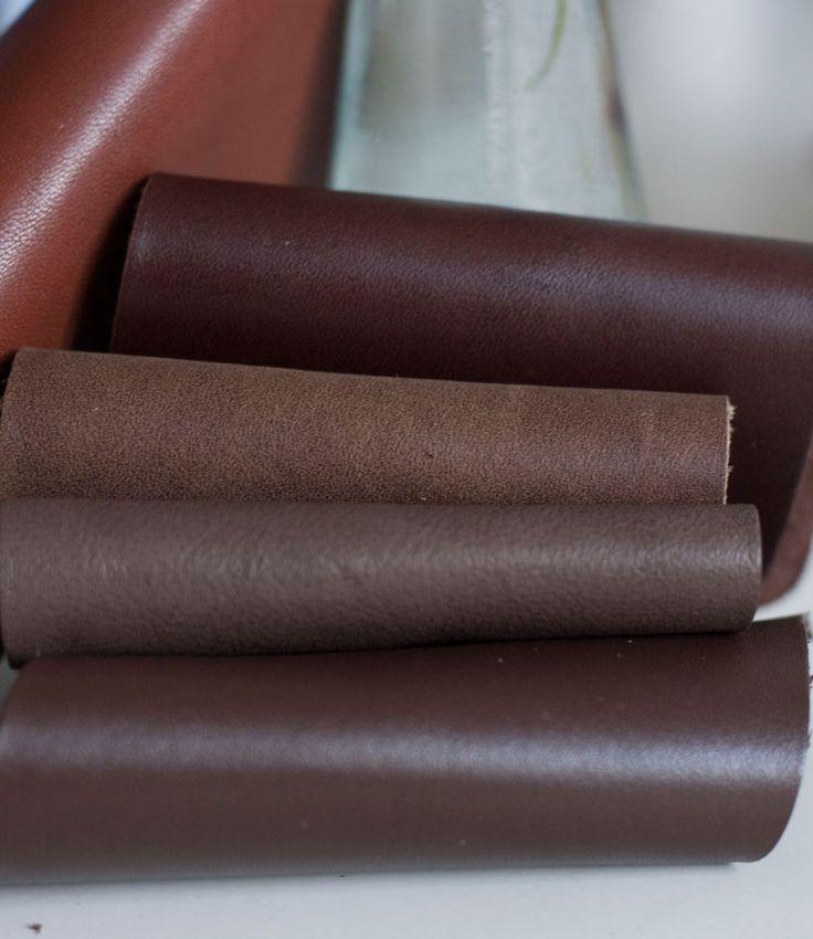 Zimowe brązy skór naturalnych na torby.  #brown_leather #genuine leather#chocolate #handcrafted