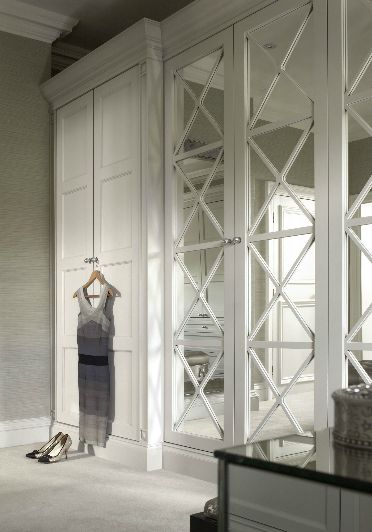 Mirrored wardrobe doors -#wardrobes #closet #armoire storage, hardware, accessories for wardrobes, dressing room, vanity, wardrobe design, sliding doors,  walk-in wardrobes.