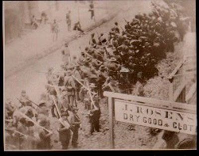 This is the only known photograph that shows Confederate soldiers on the march in enemy territory. (Maryland was indeed enemy territory to them, because slave-holding Maryland elected to remain in the Union.) What's haunting about this photo is that, statistically speaking, before the end of the month one-third of all the men in that picture would be dead, wounded or missing. The photo is the property of the Historical Society of Frederick County (Maryland)