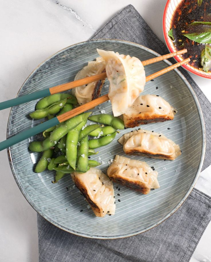 japanese gyoza potstickers dumplings