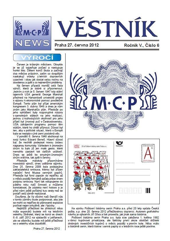 Věstník MCP 2012/6 (V.J.ROTT)