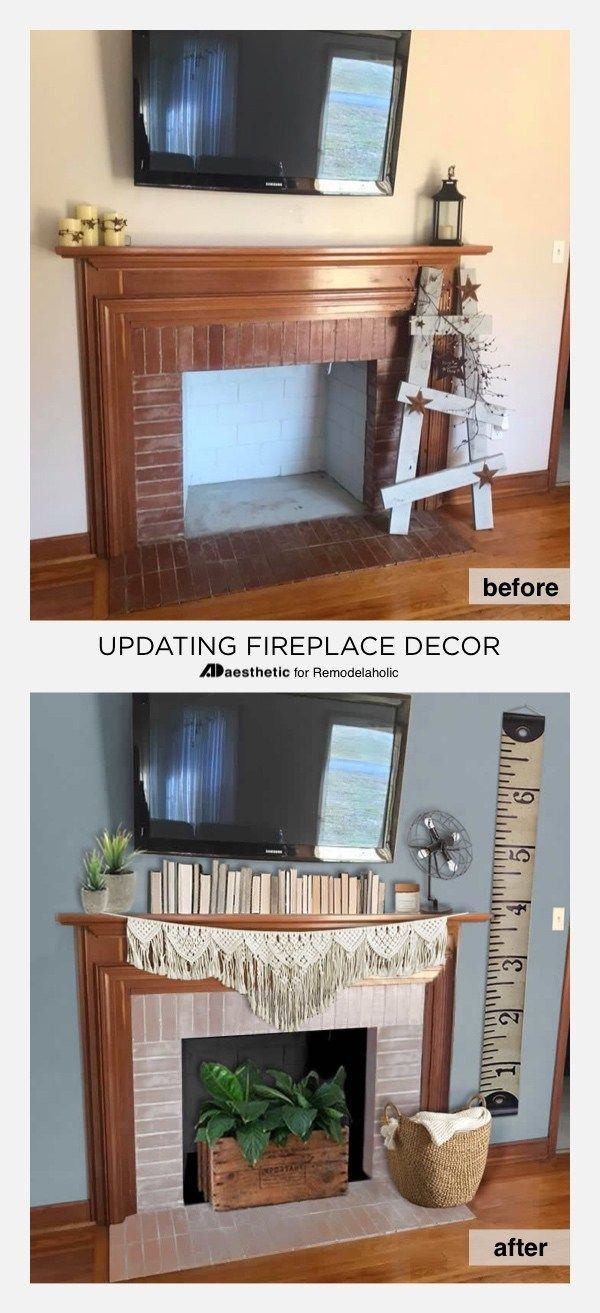 Real Life Rooms Decorating Ideas for a TV above a Fireplace