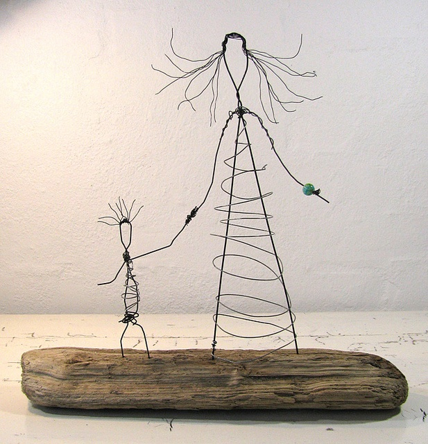 Driftwood and Wire sculpting.