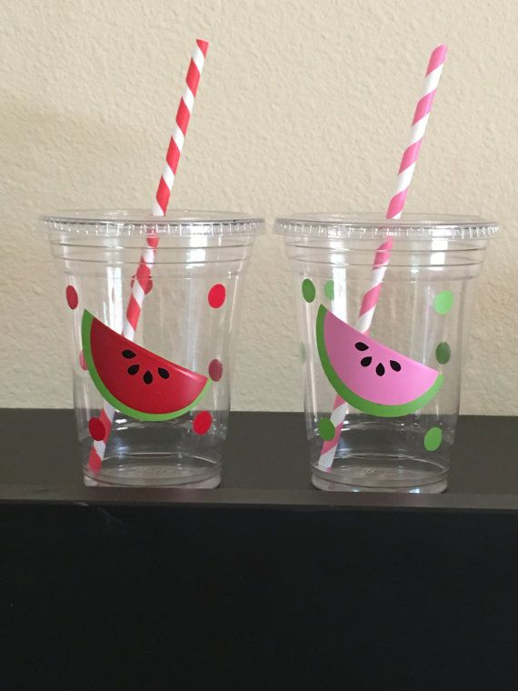 These are great for any watermelon inspired party. Each cup is 16 oz. and made from a sturdy disposable plastic. These are decorated with vinyl stickers and come with matching paper straws and lids. These are perfect for small children who easily spill. You can also stuff these with candy, snacks, and little toys for a great party favor. There are many options available: 12 count 16 count 20 count 25 count 30 count 40 count 50 count  Please click the amount button to see pricing on these…