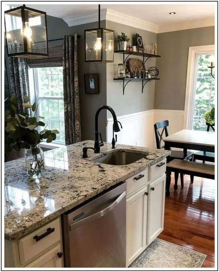 174 beautiful white kitchen cabinet design ideas page 2 | Homydepot.com #Home decor