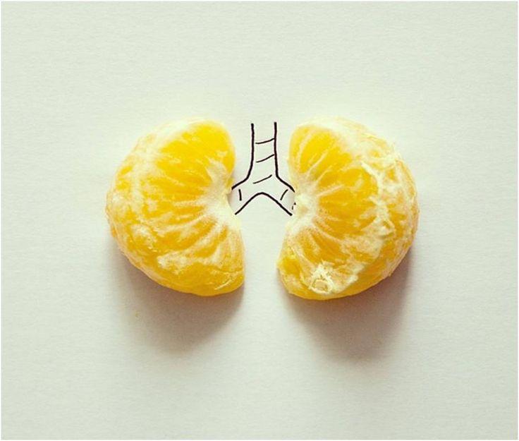 Pulmões de tangerina